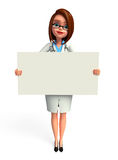 Young doctor with sign Royalty Free Stock Photo
