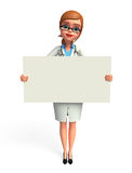 Young Doctor with sign Stock Image