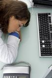 Young doctor sleeping in clinic Stock Photo