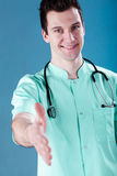 Young doctor smiling Stock Images