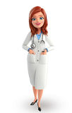 Young Doctor with standing pose Stock Photos