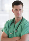Young Doctor With Stethoscope Stock Photos