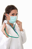 Young doctor with stethoscope Royalty Free Stock Photos