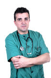 Young doctor with stethoscope Stock Images
