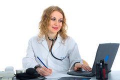 Young doctor with stethoscope Stock Photo