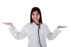 Young doctor with stethoscope Stock Image
