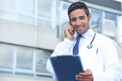Young doctor stood outside Stock Images