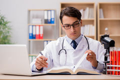 The young doctor studying medical education Stock Images