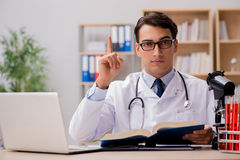 The young doctor studying medical education Royalty Free Stock Images
