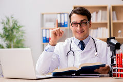 The young doctor studying medical education Royalty Free Stock Photo