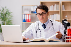 The young doctor studying medical education Stock Photography
