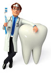 Young Doctor with  teeth Royalty Free Stock Photo