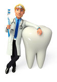 Young Doctor with teeth Stock Photography