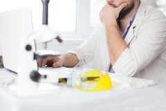 Young Doctor thinking Stock Image