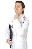 Young doctor to think Stock Photo