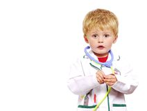 Young doctor toddler. Toddler dressed up as a doctor Royalty Free Stock Photography