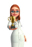 Young Doctor with trophy Stock Image