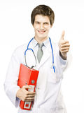 Young Doctor on White background Stock Photography