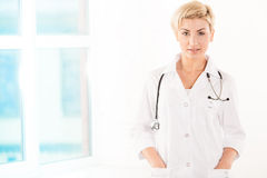 Young doctor in white coat Royalty Free Stock Photography