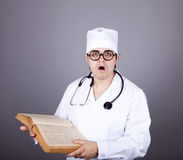 Young Doctor With Book. Stock Photography