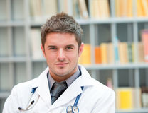 Young doctor at work stock photography
