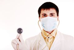 Young doctor at work. Royalty Free Stock Photo