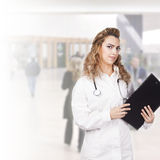 Young doctor at work Royalty Free Stock Image