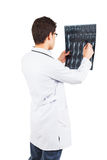 Young doctor with the x-ray in the hands Royalty Free Stock Image