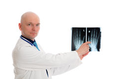 Young doctor with X-ray photograph Royalty Free Stock Image