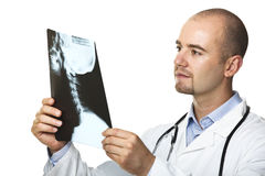 Young doctor with xray film Royalty Free Stock Images