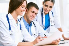 Young doctors royalty free stock image
