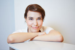 Young doctors assistant smiling Royalty Free Stock Photo