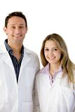 Young doctors isolated Stock Photography