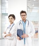 Young doctors in medical center Stock Images