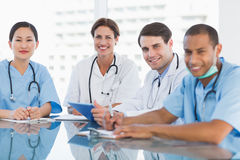 Young doctors in a meeting at hospital Royalty Free Stock Images