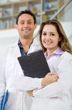 Young doctors smiling Royalty Free Stock Images