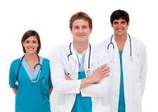 Young doctors smiling at the camera Royalty Free Stock Images