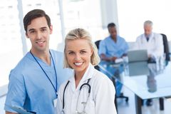 Young doctors smiling Stock Photo