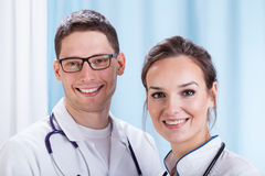 Young doctors working in hospital Stock Image