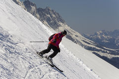 Young downhill skier Stock Image