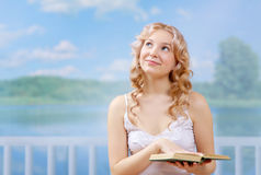 Young dreaming woman Royalty Free Stock Photo