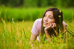 Young dreamy girl Stock Images