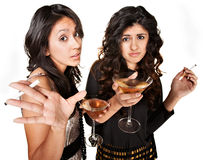 Young Drinking Girls Royalty Free Stock Photo