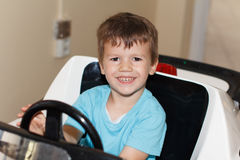 Young driver behind wheel Stock Image