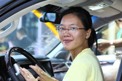 Young driving woman Stock Photos