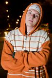 Young drug dealer at night Stock Photo