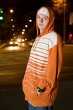 Young drug dealer at night Stock Photography