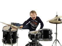 Young drummer boy Royalty Free Stock Images