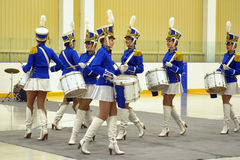 Young Drummer Girls Royalty Free Stock Photography
