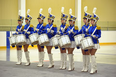Young drummer girls Stock Photos